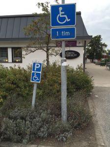 P-plats för handikappad