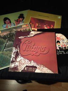Fem LP-skivor. Skulle inte drömma om att göra mig av med dem.