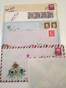 Fem personliga brev.