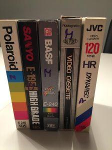 Fem inspelade VHS-band. Matador, en av mina favoriter.